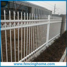 White Fence Panels with 4 Rails and Rings,Plus Steel Fence