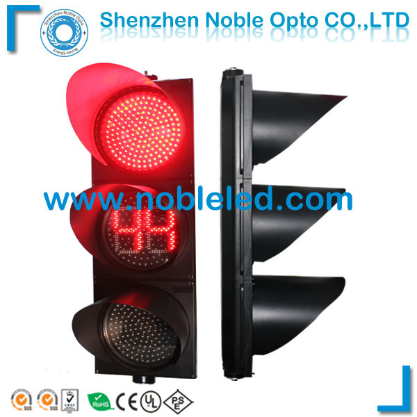 led red green countdown timer traffic lights