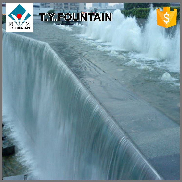 Outdoor Rock or Bridge Customized Artificial Waterfall For Decoration