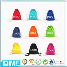 Customized Printing Gym Sack Cotton Canvas Drawstring Bag