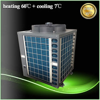 Thermostat 30deg.C for 20~300cube meter pool 12kw/19kw/35kw/70kw/105kw COP4.62 R410a SUNCHI heat pump swimming pool heater