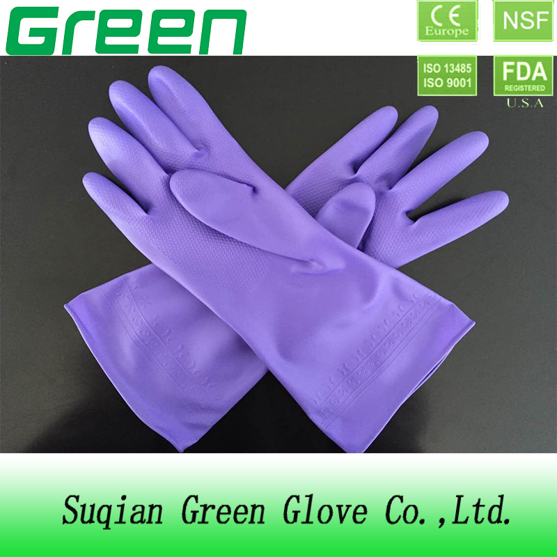 pvc latex free household gloves