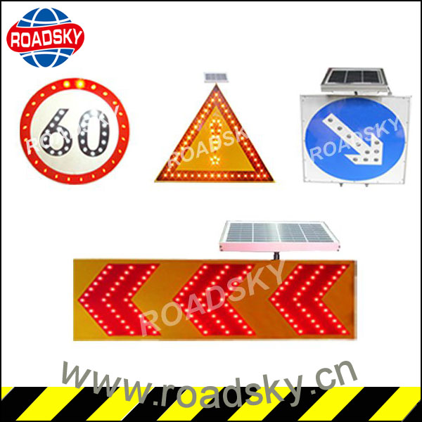 Road Safety Led Solar Power Traffic Sign