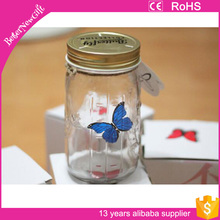 Modern Glass Bright Butterfly Lamp Romantic Nightlight FOR Home Decoration Jar