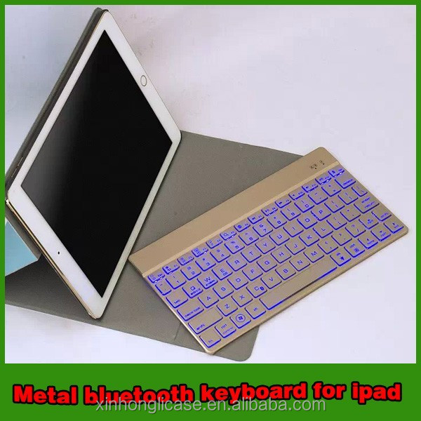 2015 New product metal bluetooth keyboard case for ipad air 2 case