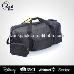Lightweight Parachute Nylon Duffel Bag with Pouch