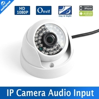 Spion Camera With Security H.264 HD CMOS Indoor Use 2.0MP 1080P Dome IP Camera IR 20m 3.6mm Lens