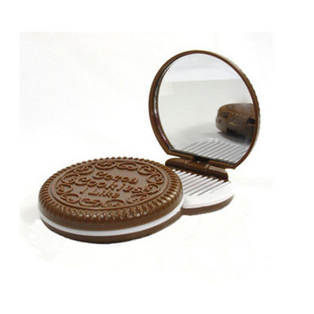 Personalized Plastic Cosmetic Mirror Personalized round Makeup Mirror