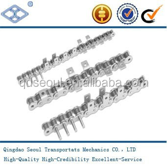 General and Extended Pin Type WA-1 wide contour one side horizontal type one hole attachment roller chain 100