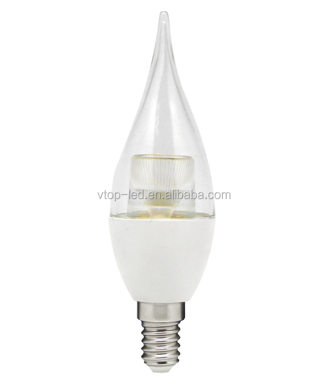 5 Watt E14 flame led candle light SMD AC127V Clear lens