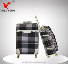 2014 aluminum trolley case,top quality PU luggage bag belt,4 scient wheels