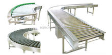 90 degree turning and straight running heavy duty roller conveyor