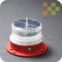 FAA LED RED Solar Tower Aviation Obstruction Lights