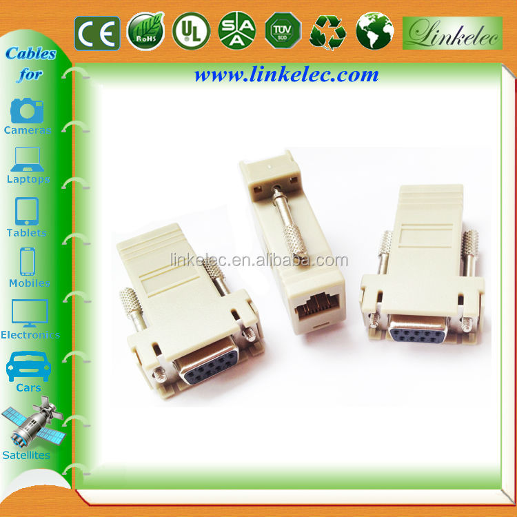 db9 female to rj45 male d-sub computer adapter cable