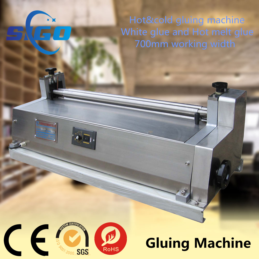 "SG-720B Desktop high speed manual 28"" box cold and hot melt gluing paper machine for sale"