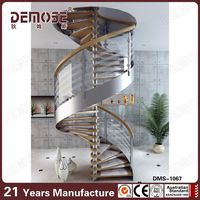 prefab homes stainless steel spiral stairs for sale factory quality