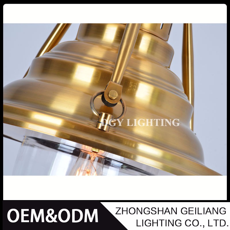 resturant industrial vintage style black gold silver e27 modern iron pendant light