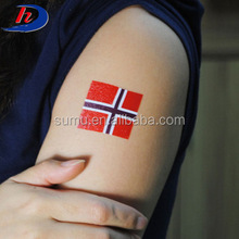 Football Fans Tattoo Sticker For 2018 Russia World Cup Country ,Flag Butterfly Design