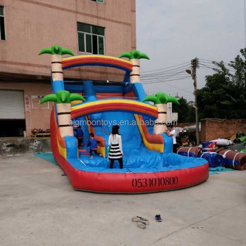 Fashionable commercial jungle inflatable water slide
