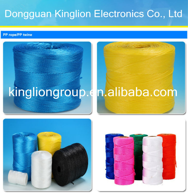 pp packing twine/soft UV tomato packing strapping twine