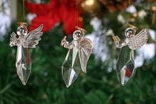 Convenient Cute Hanging Glass Angel Christmas Decoration
