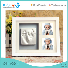 Baby souvenir - Unique gift handprints footprint baby photo frame for baby keepsake