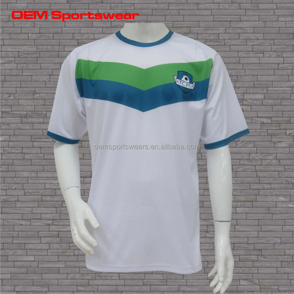 wholesale plain white t shirts short sleeve soccer jersey