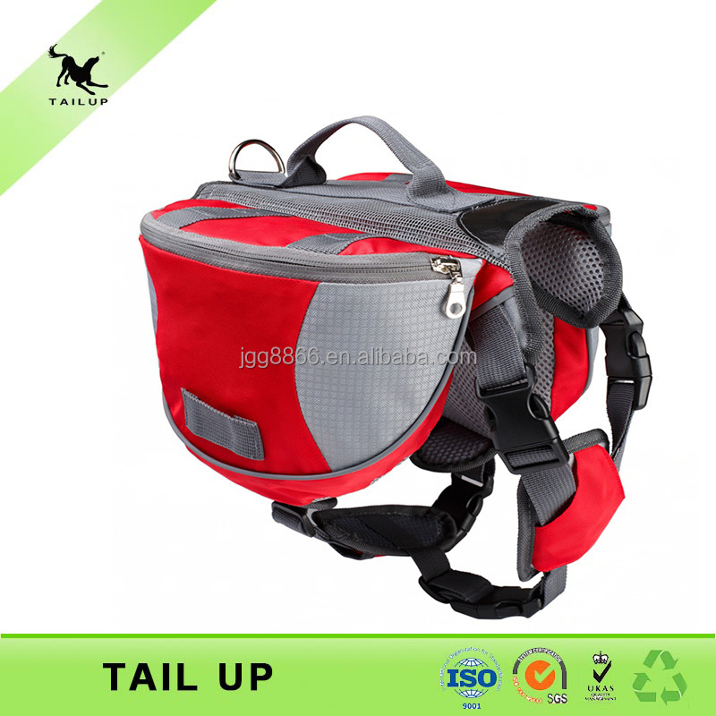 TAILUP Hiking carrier backpack retractable dog leash with flashlight and bag