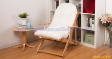 very cheap beech wood canvas cushion adjustable relax chair