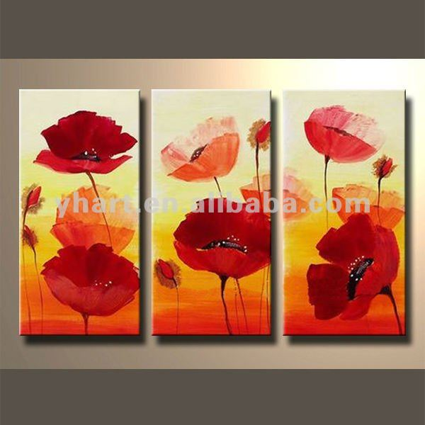 Modern Home Decor Classical Glass Flowers painting Designs