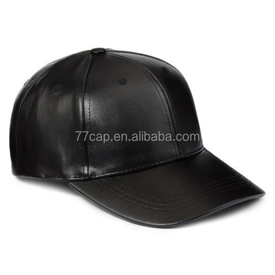 custom leather baseball cap