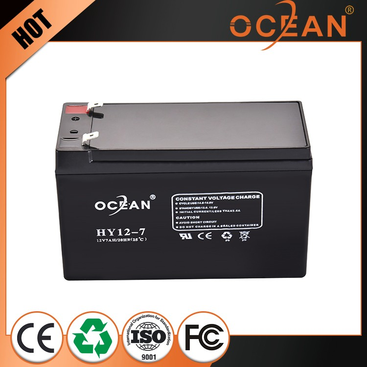 12V 7ah factory wholesale price fashional designed anti-corrosion deep cycle solar battery