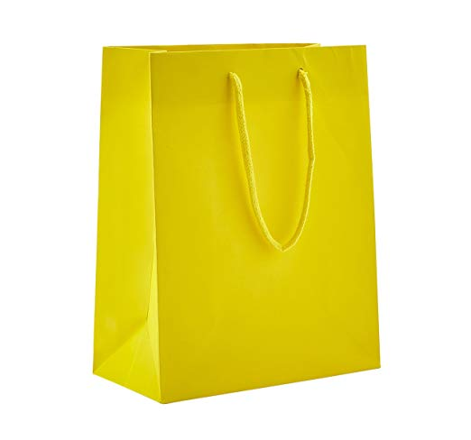 <strong>Black</strong> or Sunrise Matte Heavy Duty Paper Tote Bag