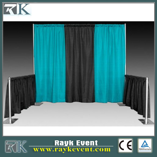 Portable aluminum standard exhibition pipe drape booth/exhibition stand