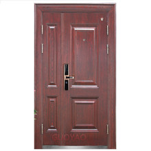 Main entrance Building Apartment Entry Fireproof Fire Rated security steel door with hinges locks