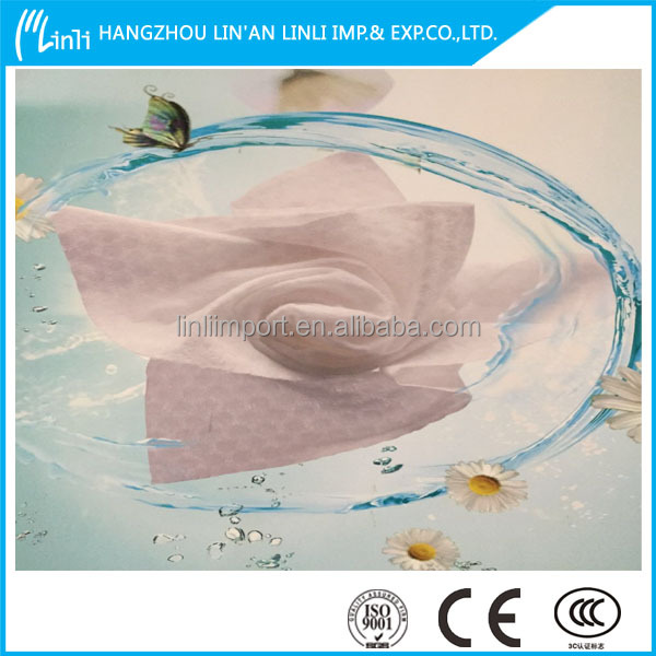 Zhejiang factory wholesale kitchen paper towel/paper hand towel/nonwoven fabric raw matericals with loe price