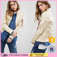 2017 Women MA-1 Bomber Jacket Arm Tags Air Force One Jacket