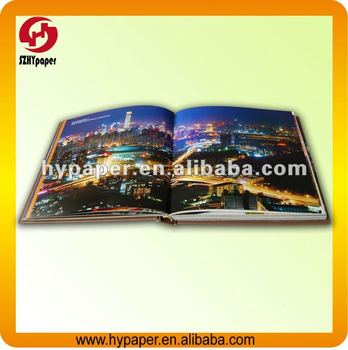 Customized promotion hardcover book printing