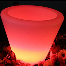 Colorful led lighted up plastic ice bucket/flower pot for night club