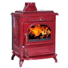 L677 Big Heat Cast Iron Red Enamel Water Heating Wood Pellet Boiler Stove