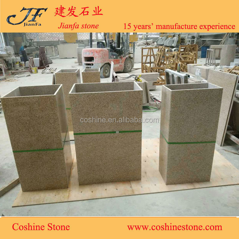 chinese G682 yellow rusty granite column tile