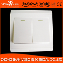 China manufacture good quality 2 gang 1 way white switch for Europe
