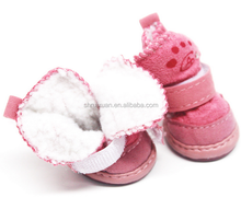 Pet lambs wool warm shoes
