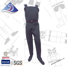 Best choice grey neoprene chest wader suit with wader neoprene sock