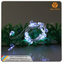 3*AA battery operated crutch shape LED String Lights Copper Wire Lights, Waterproof Starry String Lights,