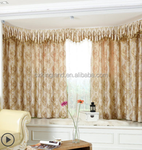 Yarn dyed jacquard blackout double swag shower curtain with valance
