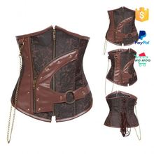 Custom Made Plus Size 6XL Leather Corset Teddy