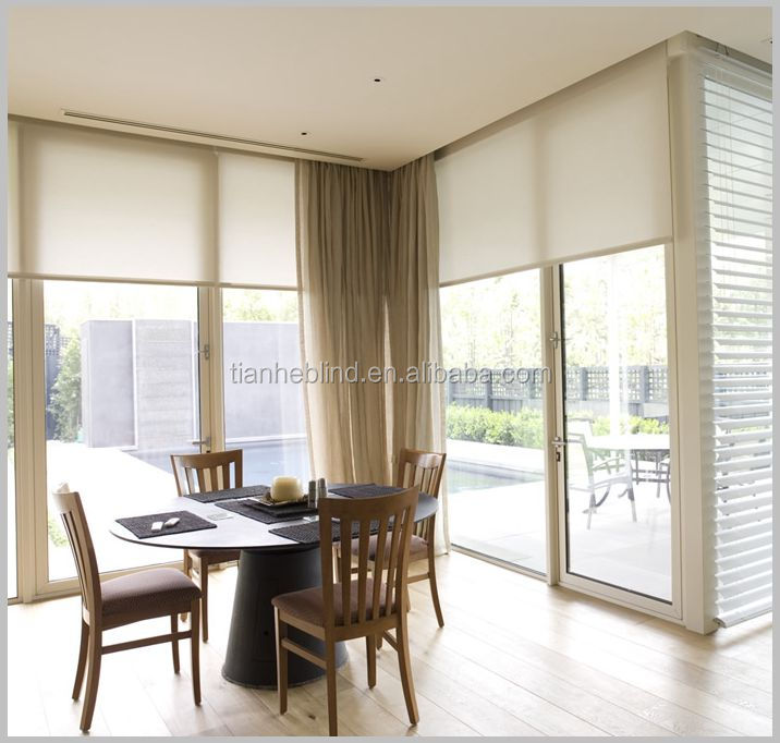 Printed Fabric Roller Blinds balcony sun shades curtains and drapes