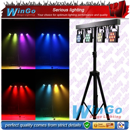 New!!! 3 in 1 Compact LED Bar 4 quad par /28pcs 9W high brightness LED 4 quad par / wireless dmx LED bar light