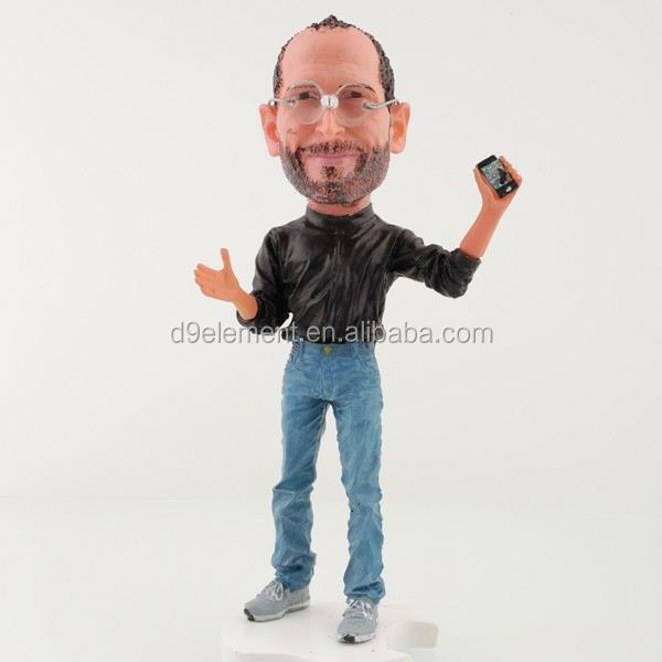Wholesale High Quality Handmade Collectible Figurine Steve Jobs Resin Craft